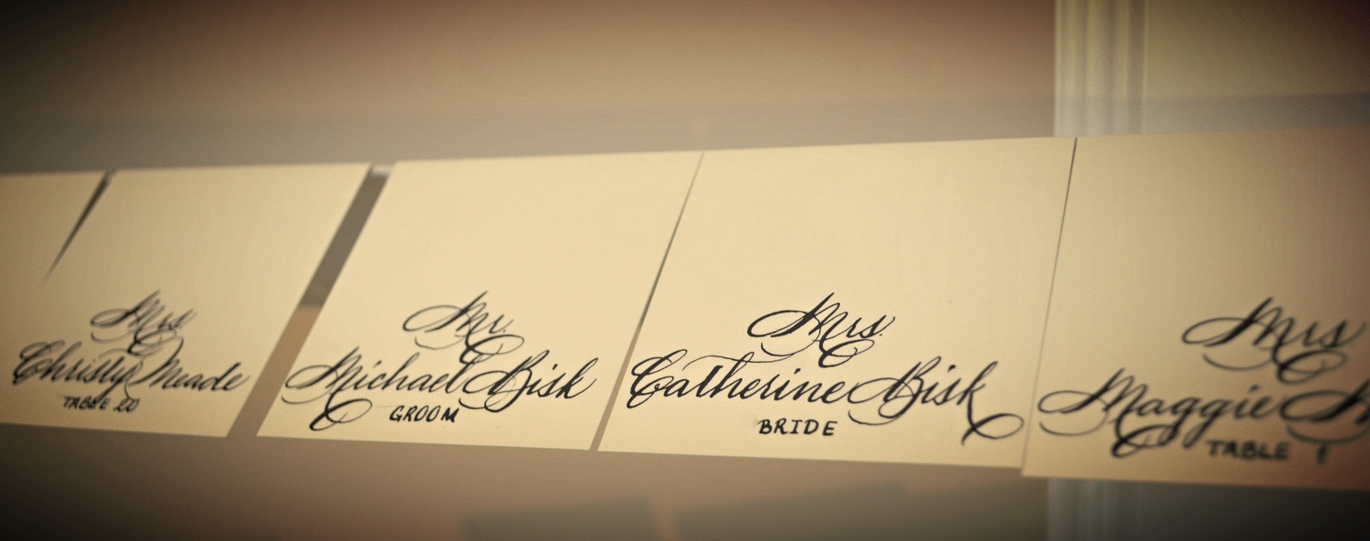 Houston Calligraphy Place Cards.JPG