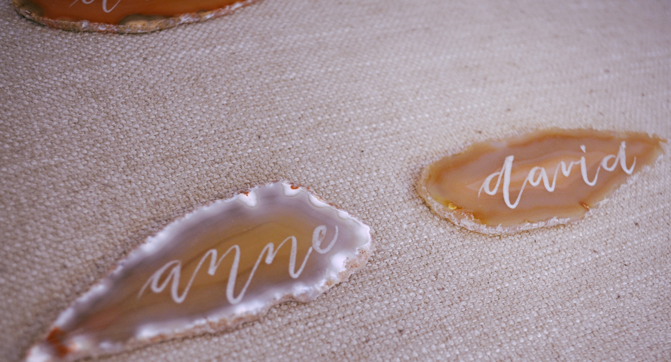 Agate Stone Place Card Calligrapher Houston 18 Aug 2015 3.jpg