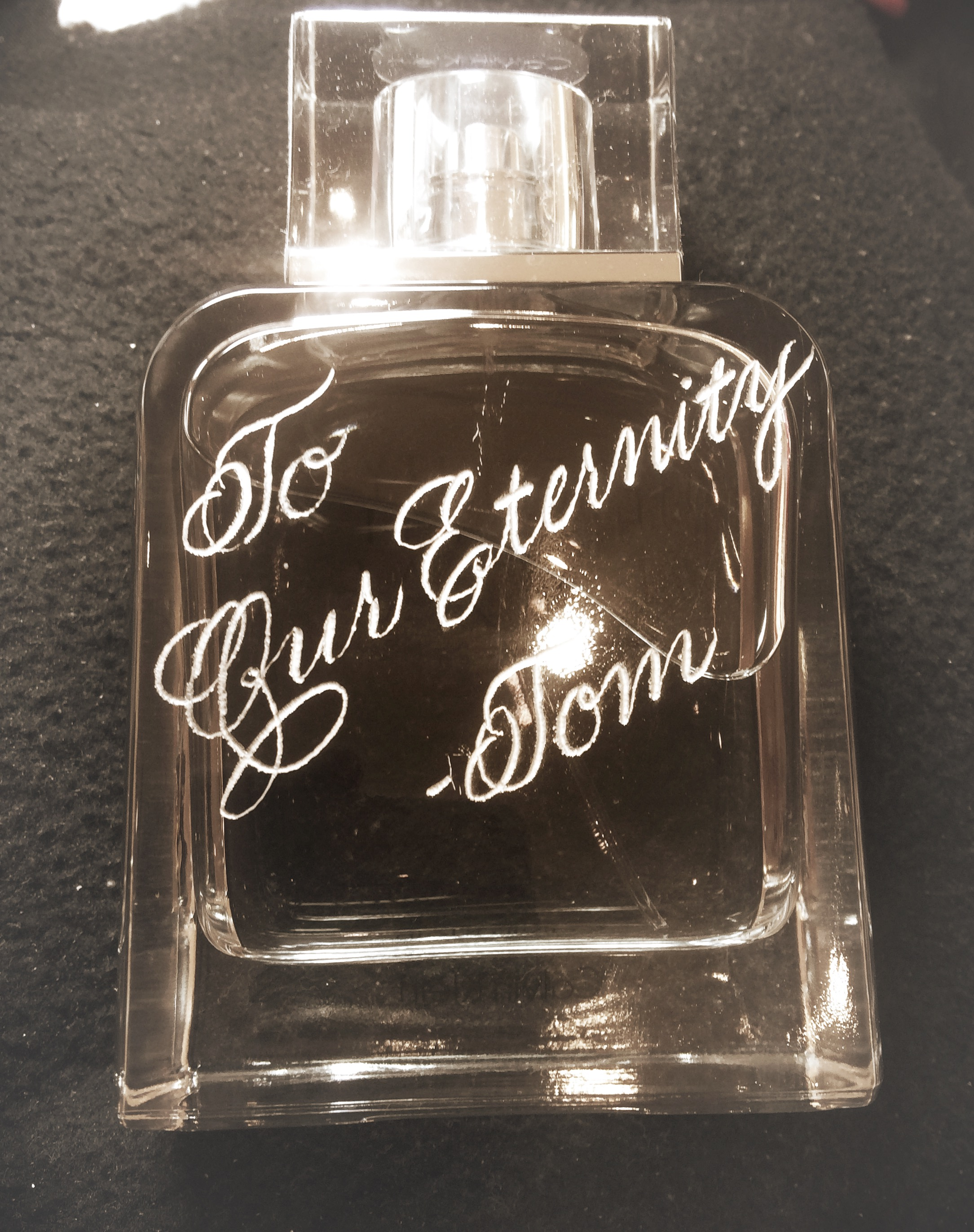 Houston Fragrance engraving engraver.JPG