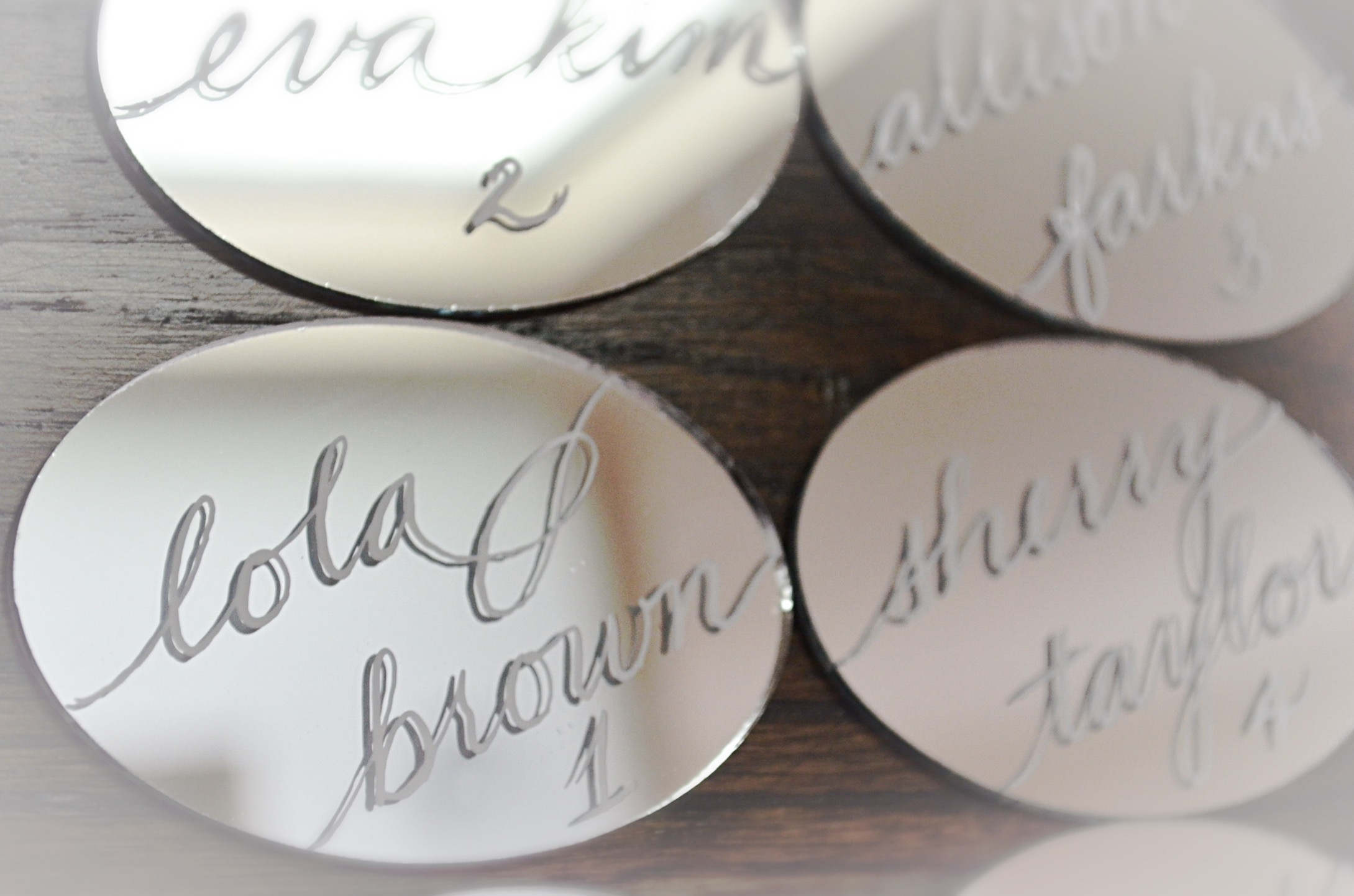 Houston Los Angeles New York Miami Mirror Calligraphy Place card Escort Card 1.JPG