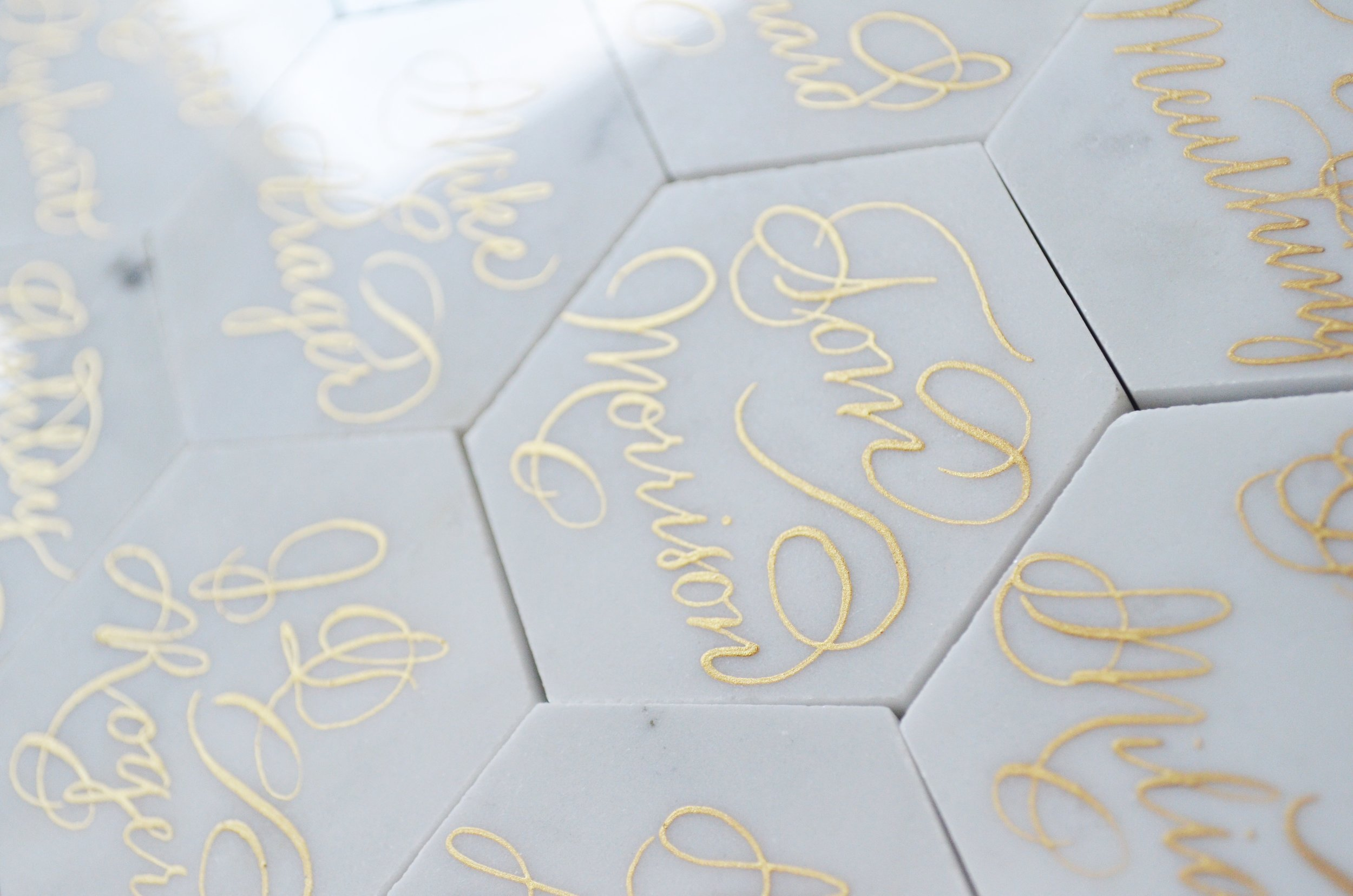 White Marble Calligraphy Place card Houston Los Angeles New York Miami 1.JPG
