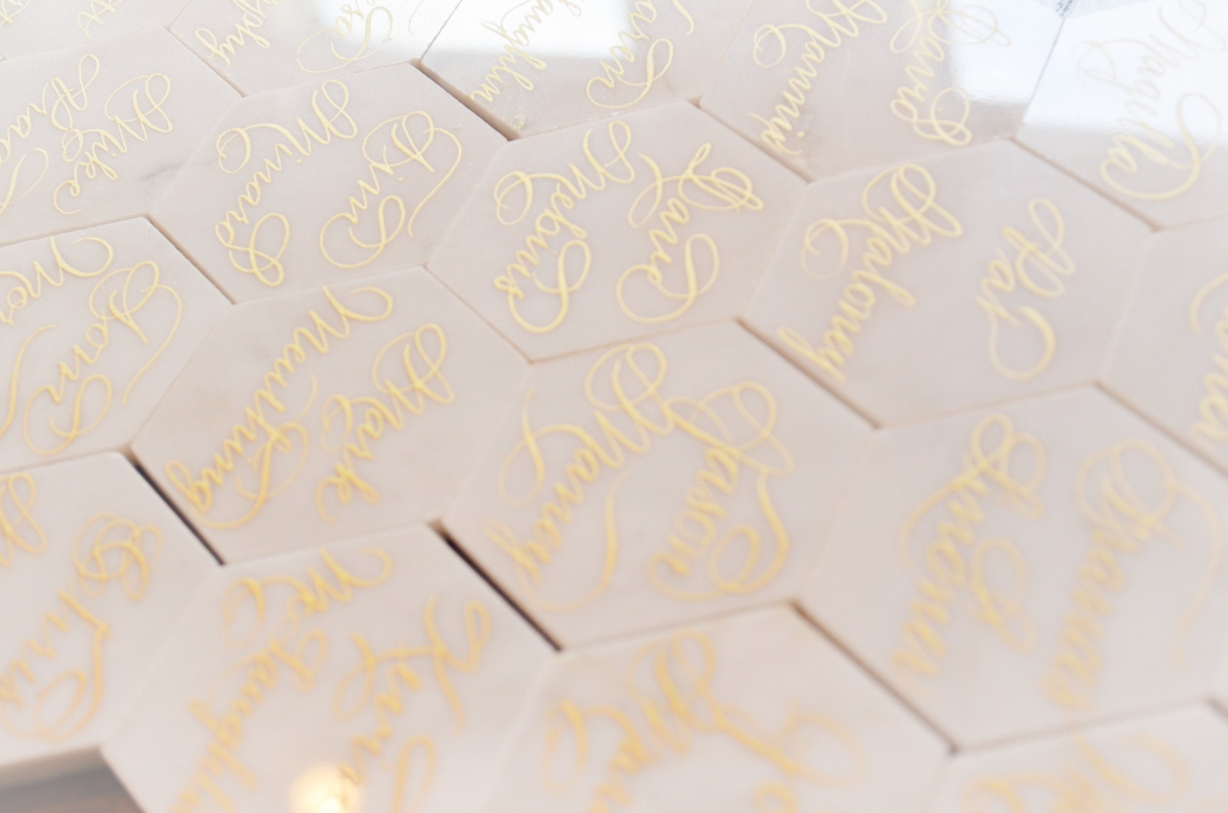 White Marble Calligraphy Place card Houston Los Angeles New York Miami 4.JPG