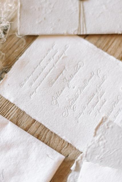 Houston Calligraphy Wedding Handmade Paper 1.JPG