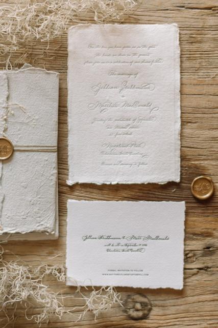 Houston Calligraphy Wedding Handmade Paper 2.JPG