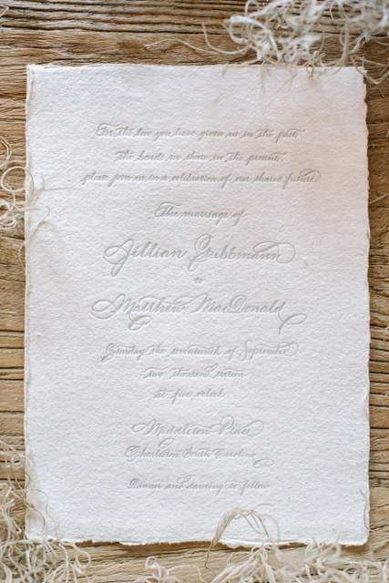 Houston Calligraphy Wedding Handmade Paper 7.JPG