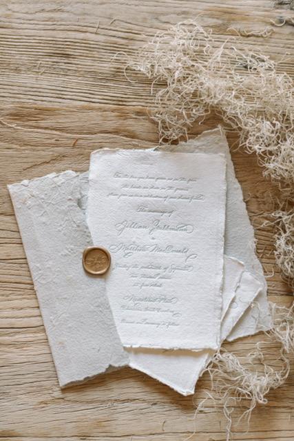 Houston Calligraphy Wedding Handmade Paper 8.JPG