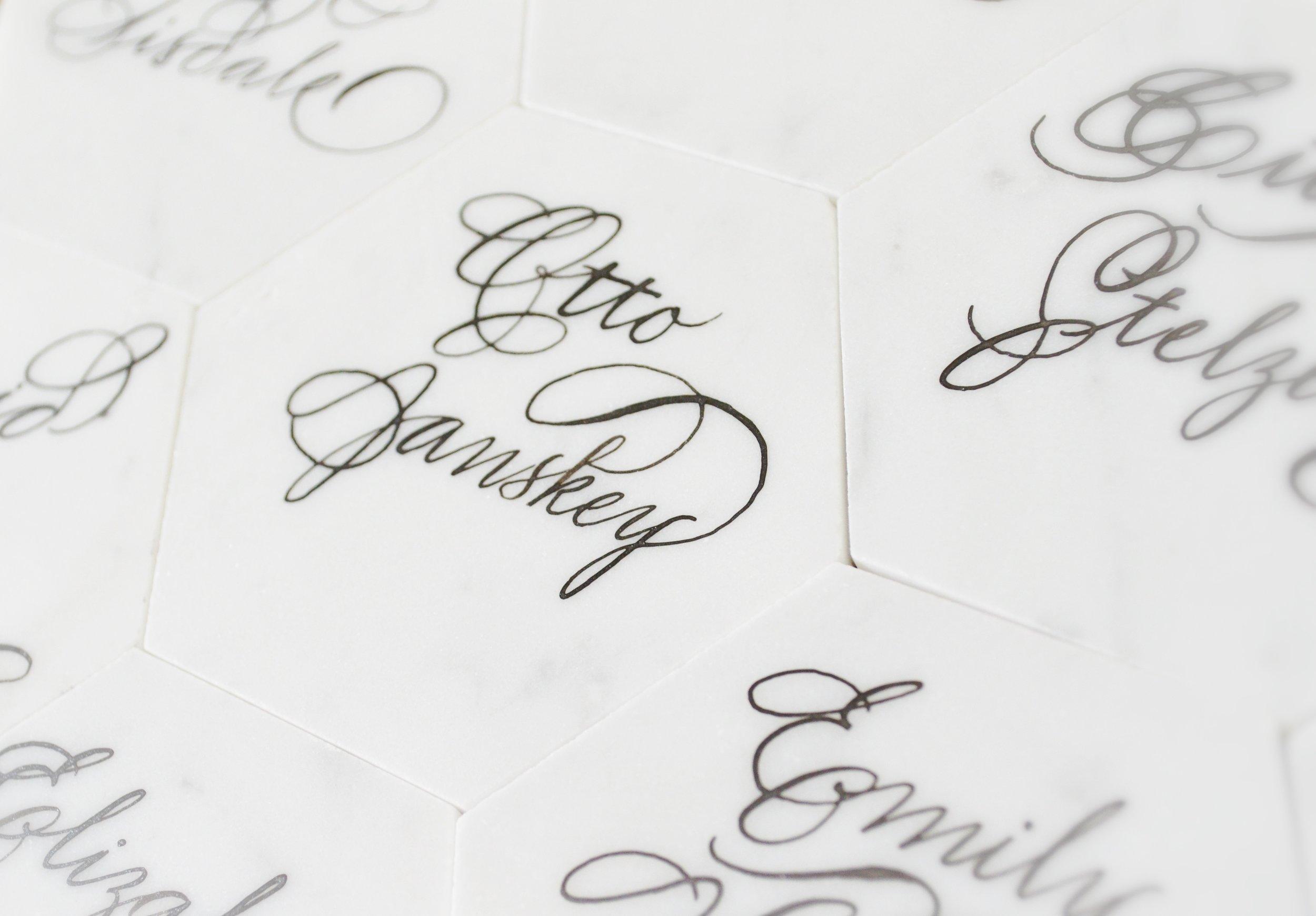 White Marble Calligraphy Houston Calligrapher .JPG