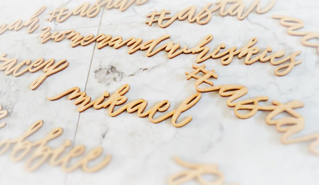 Lasercut wood modern houston calligraphy 26 Sept 2017.jpg