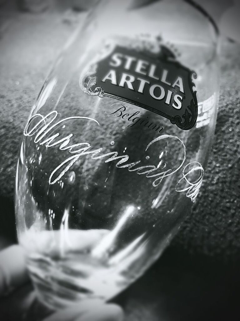 Stella Artois Chalice Glass Houston Engraving - Slinging Ink®