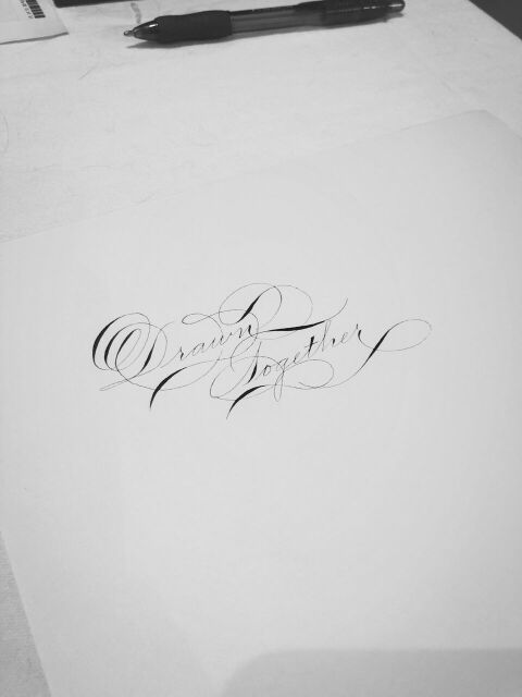 houston calligraphy ornamental penmanship slinging ink hand lettering drawn together 2018.jpg