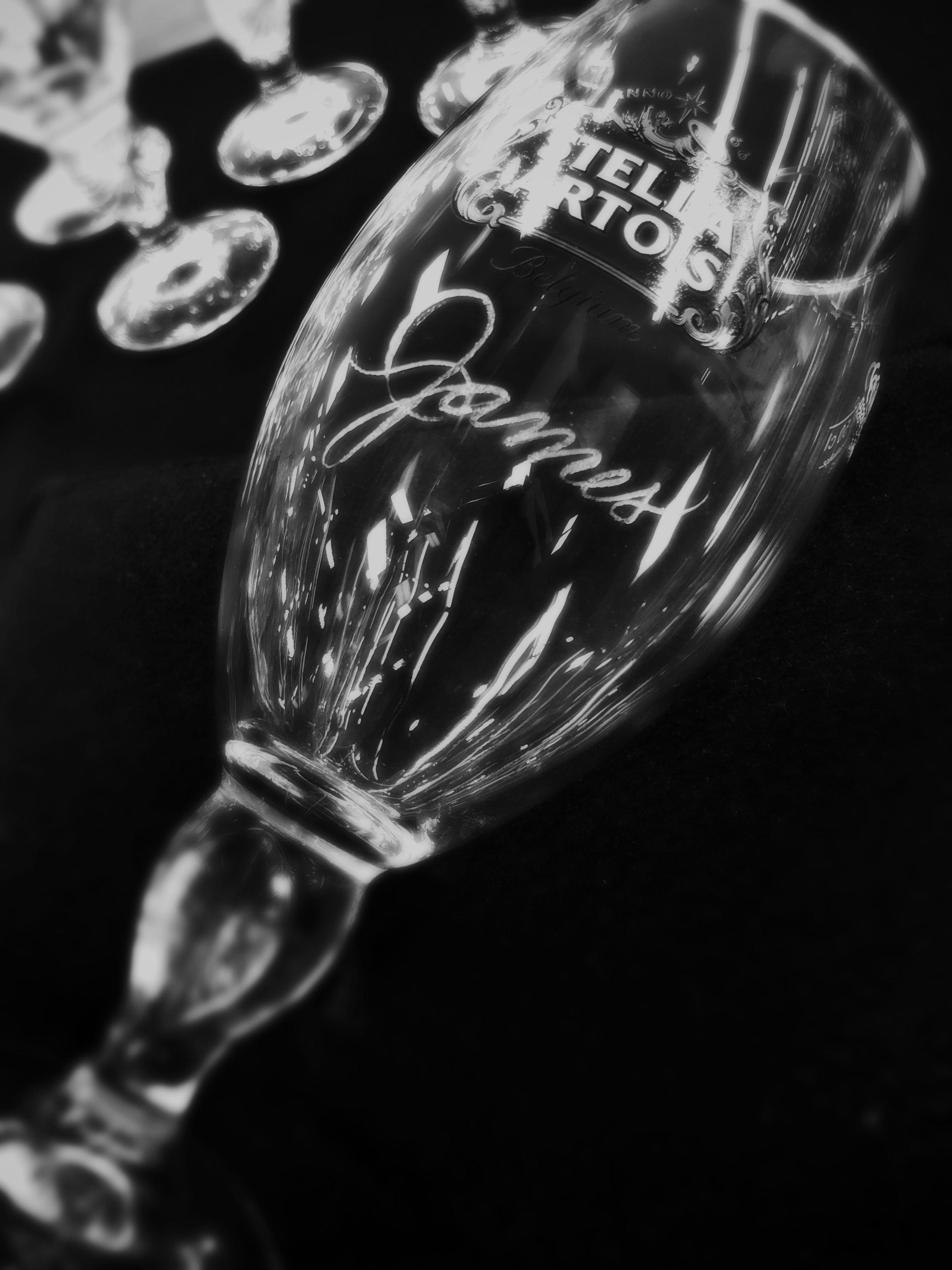 Wine Glass Engraving Houston - Champagne Glass Engraving Houston - Slinging Ink