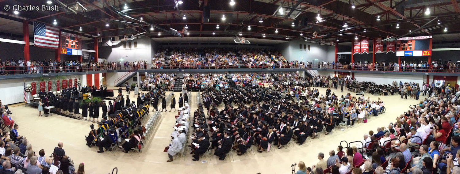 Nichols State University Graduation 2013  iPhone 4s Camera Panoramic Mode