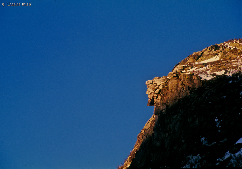 Old Man in the Mountain, New Hampshire  Nikon N90s Camera, Velvia Film, Nikon 300 f2.8 AFD lens