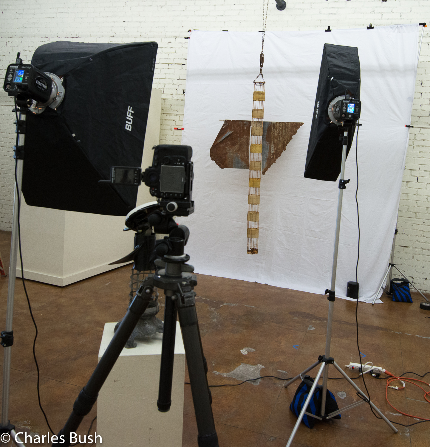 Set up for Photographing Sculpture