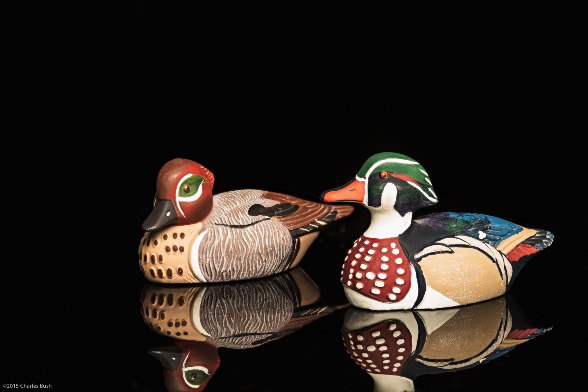 Toy Ducks Photographed using focus stacking