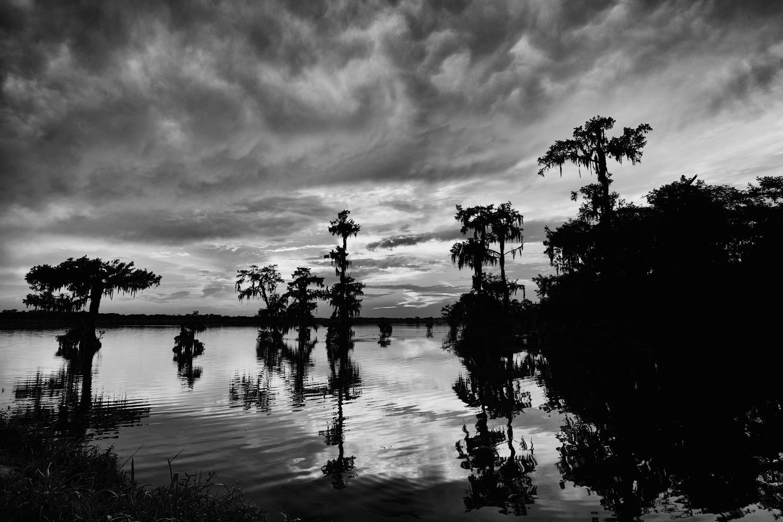 Lake Martin Sunset = Black and White Version