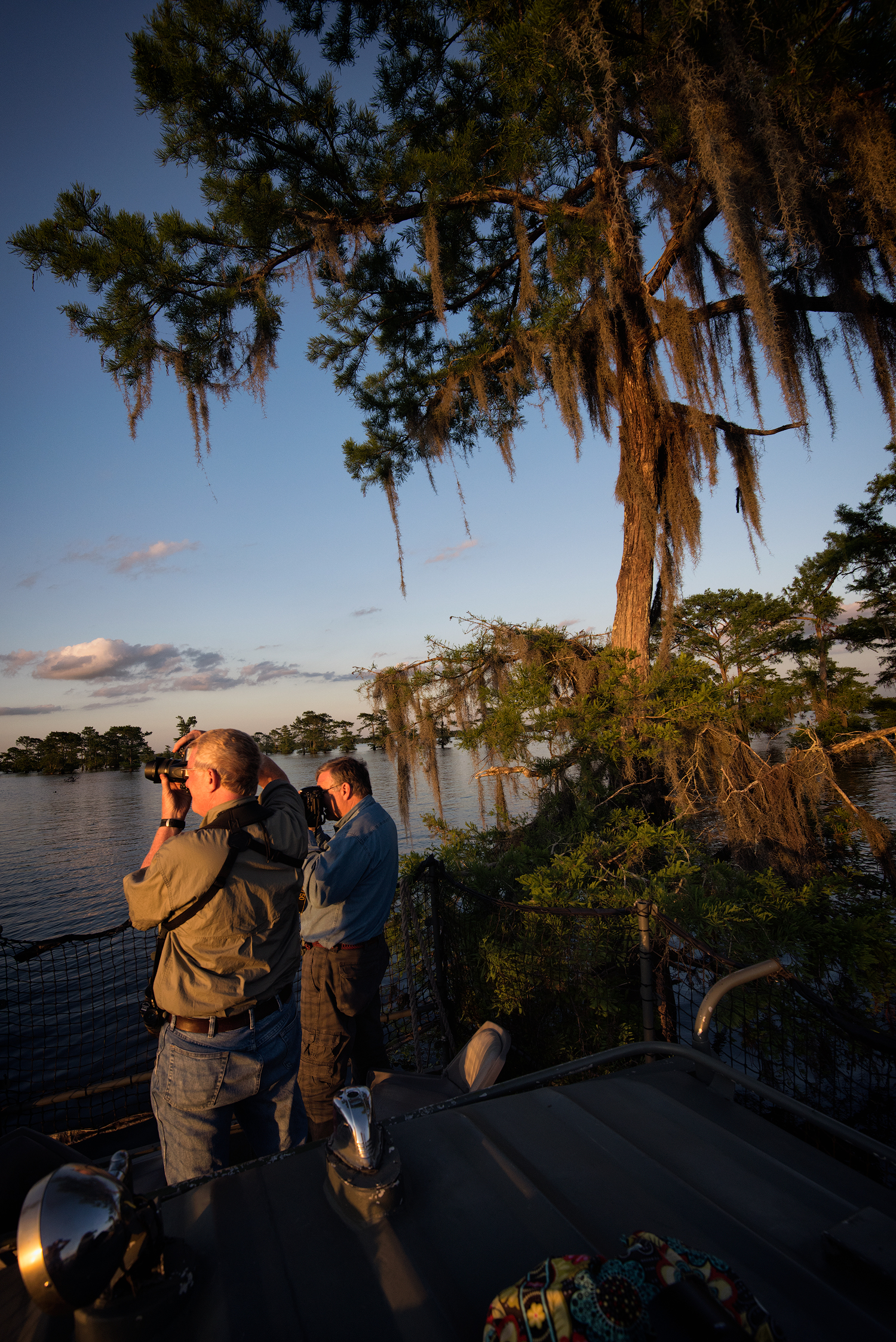Shooting the Sunset in the Atchafalaya Basin