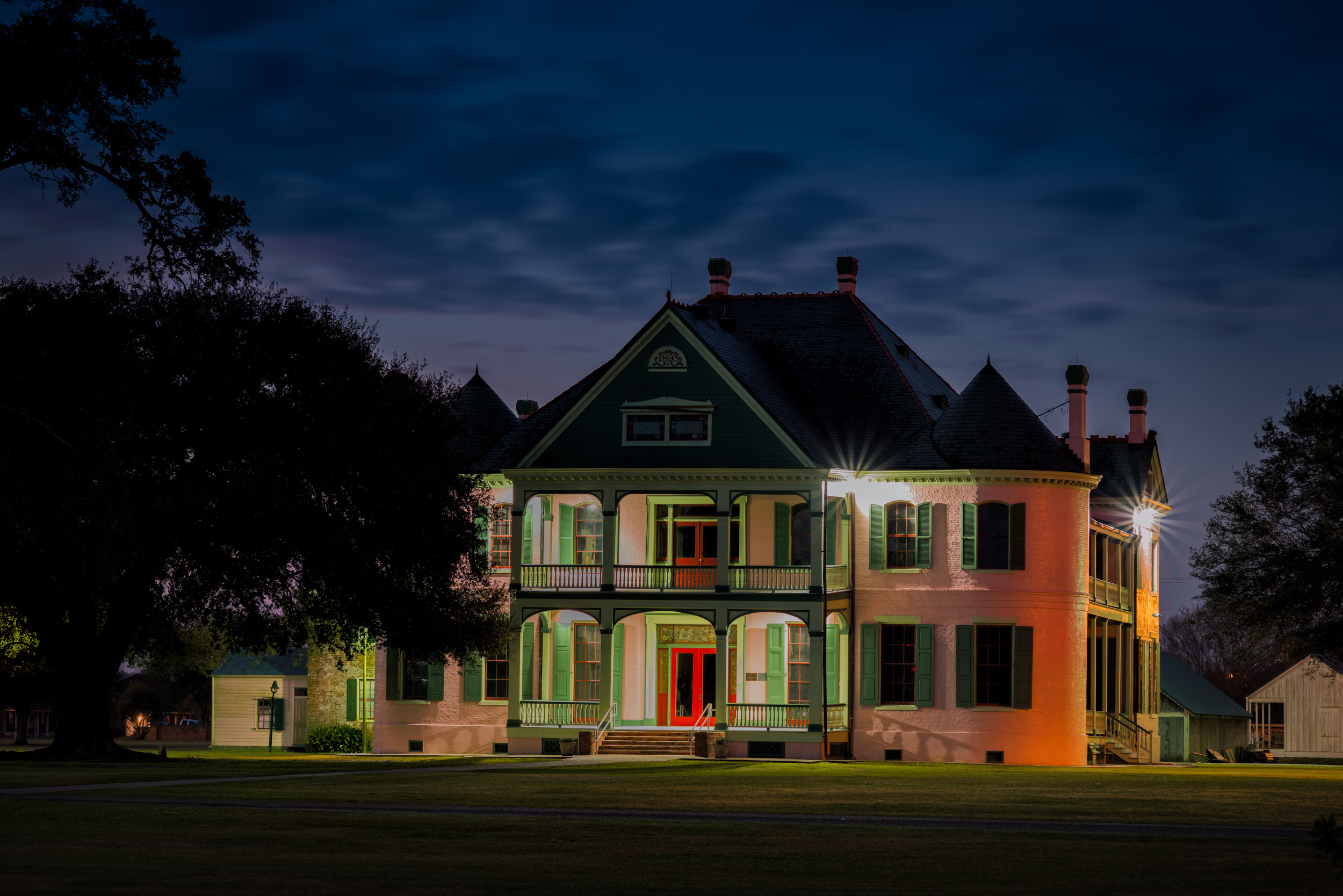 Southdown Plantation House at Night Houma, LA