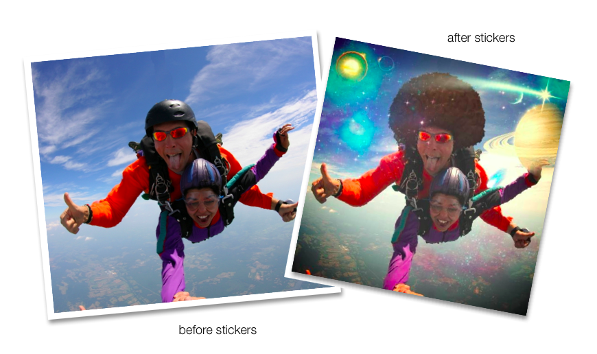 Before and After - Galaxy Stickers Aviary