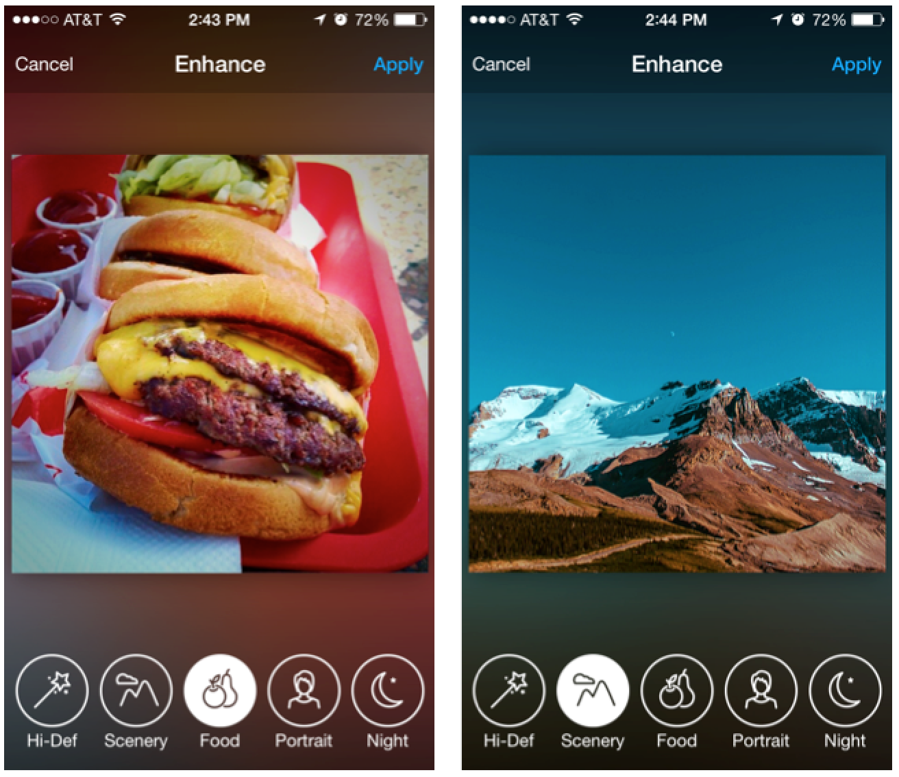 Apply some one-tap magic with our all new Enhance options.