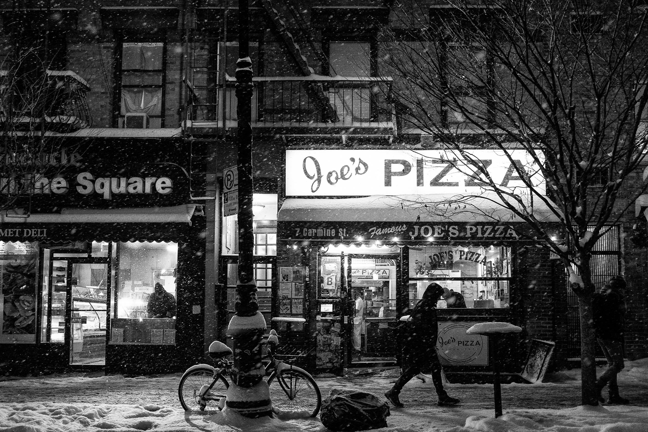 Joe's Pizza. (Better than Ben's Pizza)