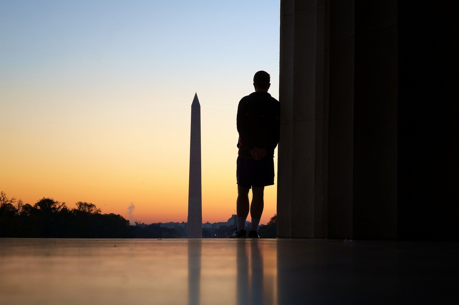 """Washington, DC sunrise""  November, 2015, Washington, DC Fujifilm XPro1, 56mm, f/8, 1/25, ISO 200"