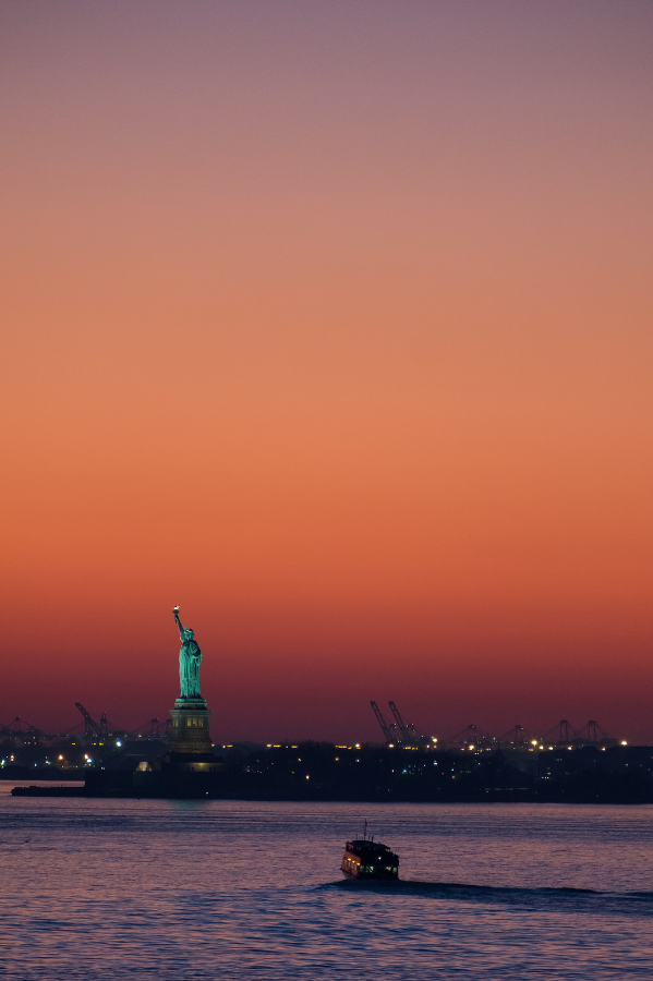"""Statue of Liberty at Sunset""  December, 2015 Brooklyn, New York Fujifilm XPro1, 200mm, f/4.8, 1/25, ISO 800"
