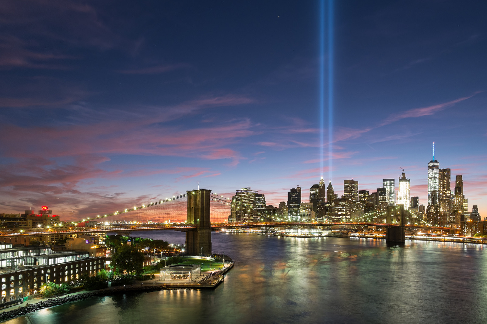 """Tribute in Light""  September 11, 2016. New York City  Fujifilm XPro1, 14mm, f/8, 10s, ISO 400"