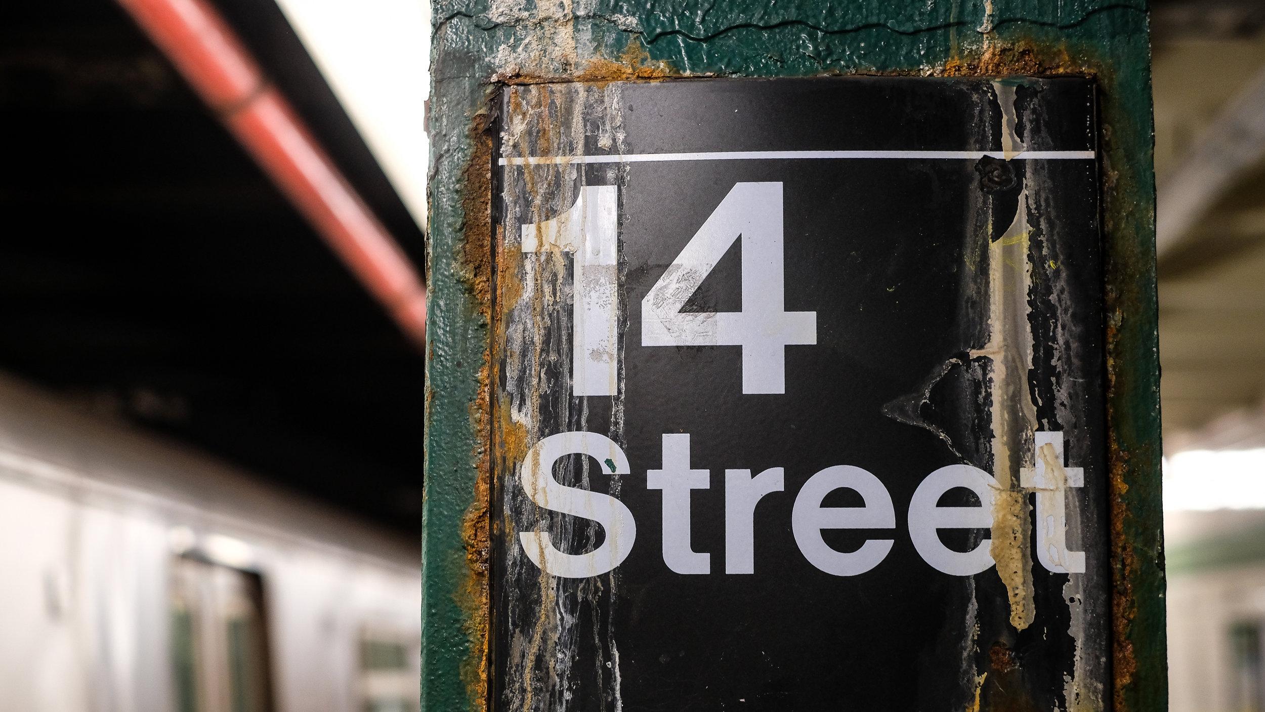 F train. 14th Street.