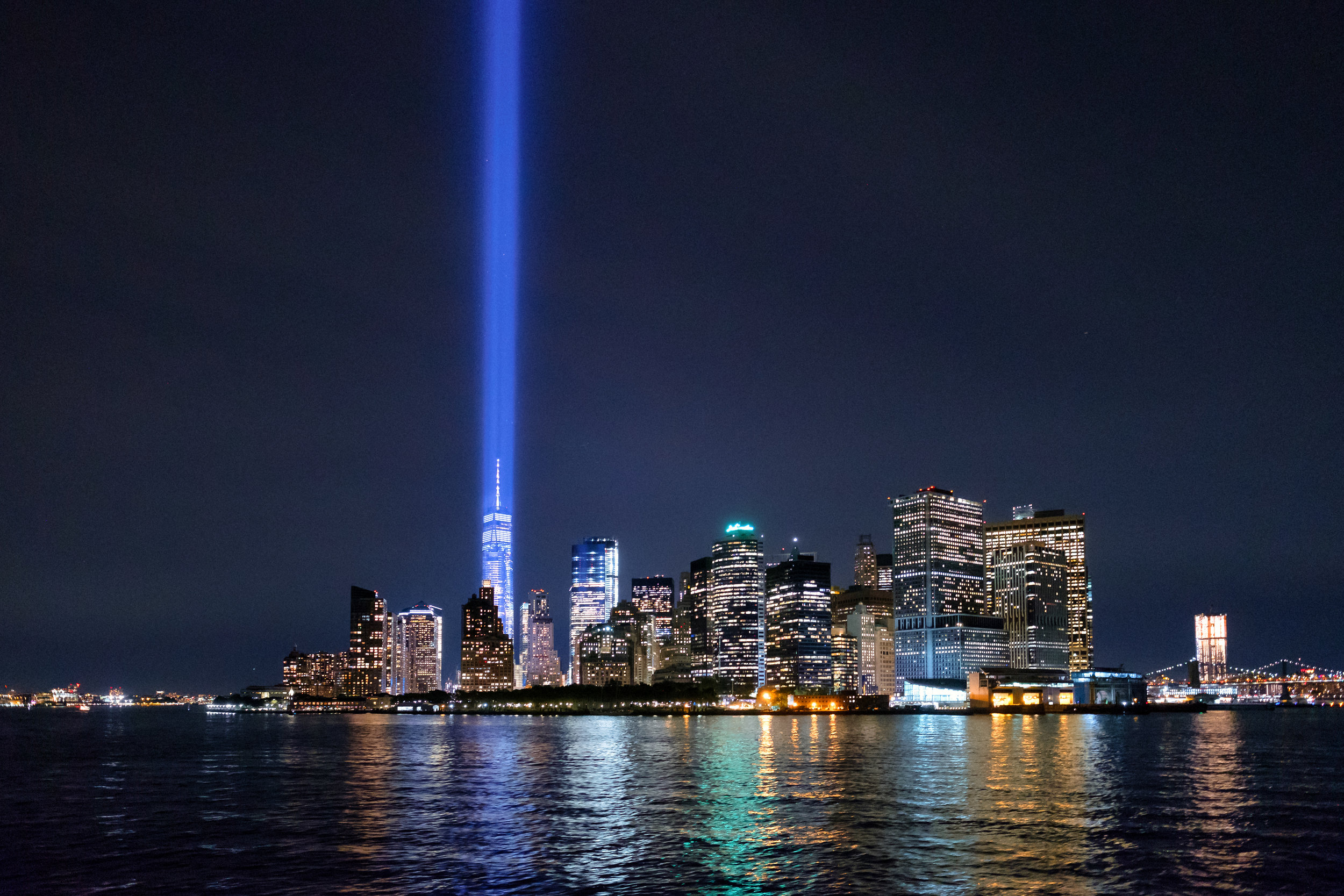 """Unforgotten."" September 11, 2017. Tribute in Light. New York City. Fujifilm X-Pro2, 14mm, f/2.8, 1/17, ISO 6400"