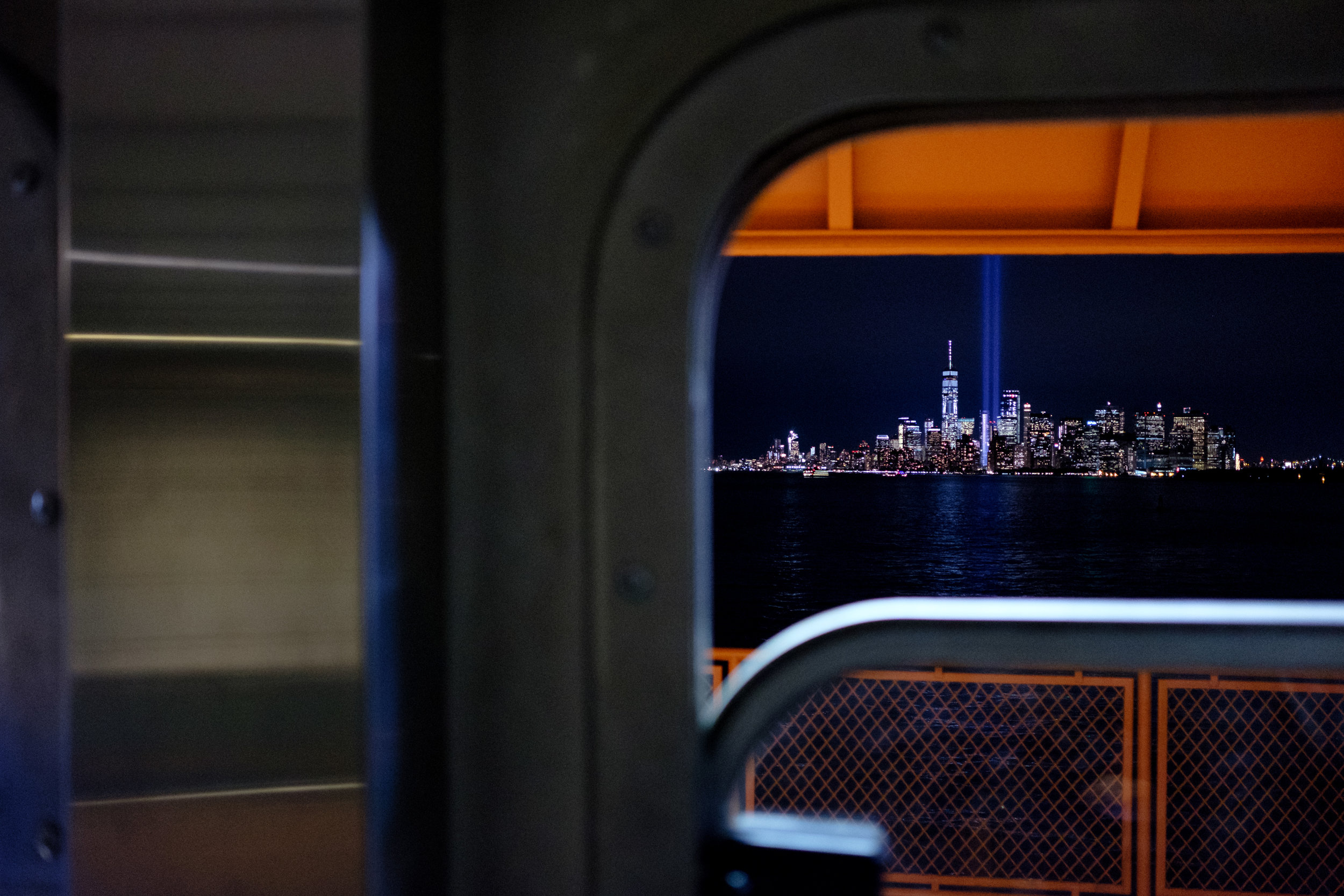 """Tribute"" September 11, 2017. Staten Island Ferry, New York Fujifilm X-Pro2, 23mm, f/2, 1/50, ISO 3200"