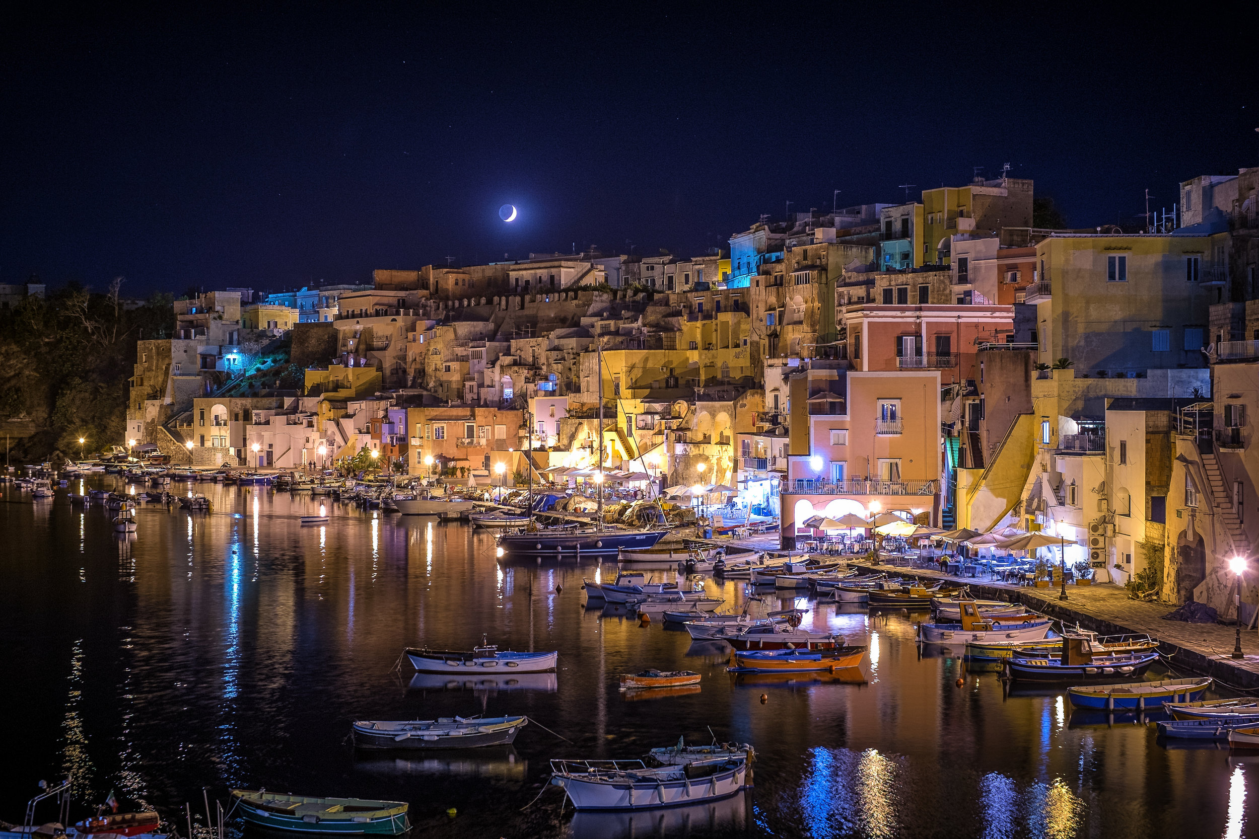 Moonlight over Procida