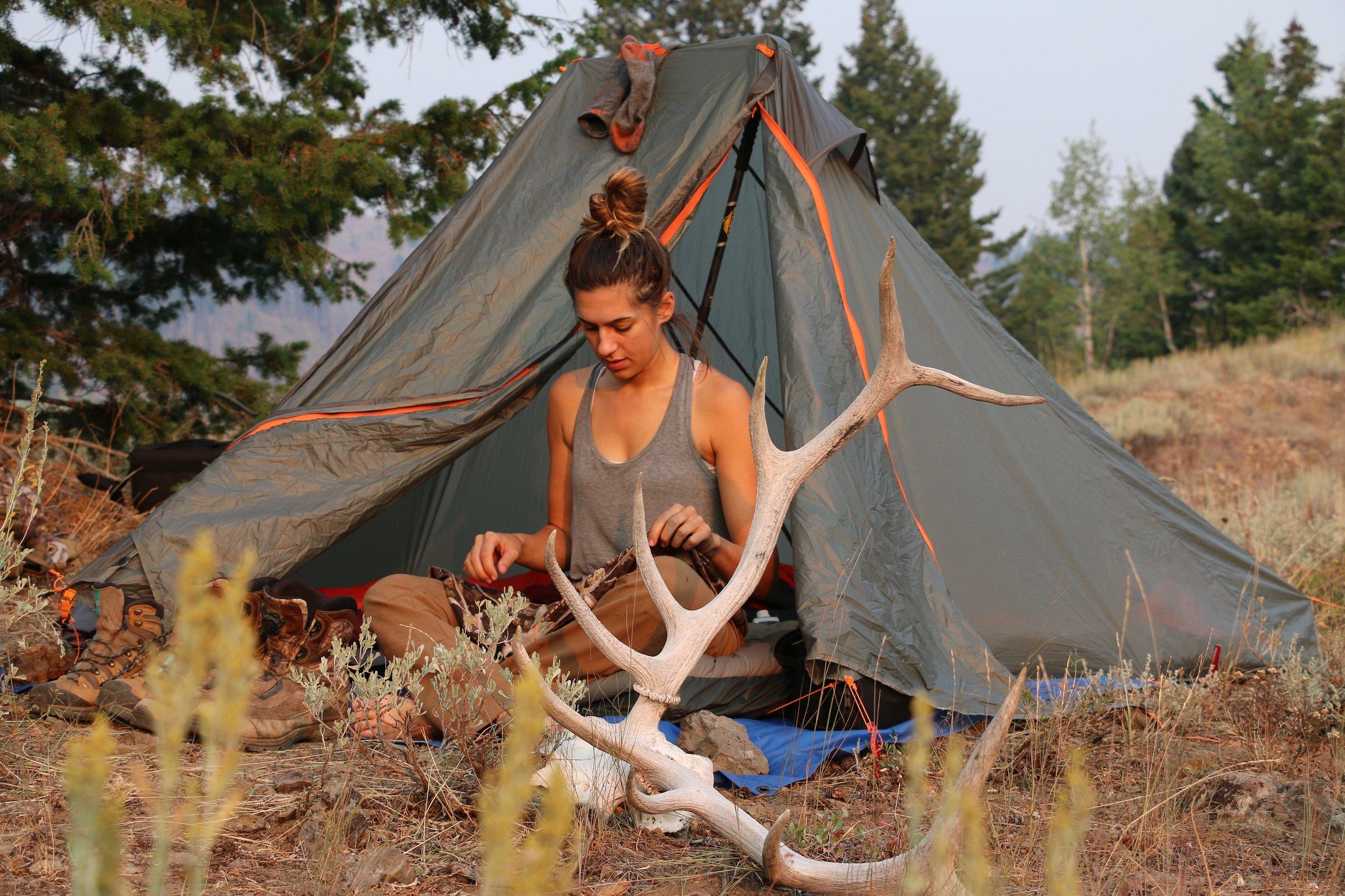 Camping Antlers - Outdoors Allie.JPG