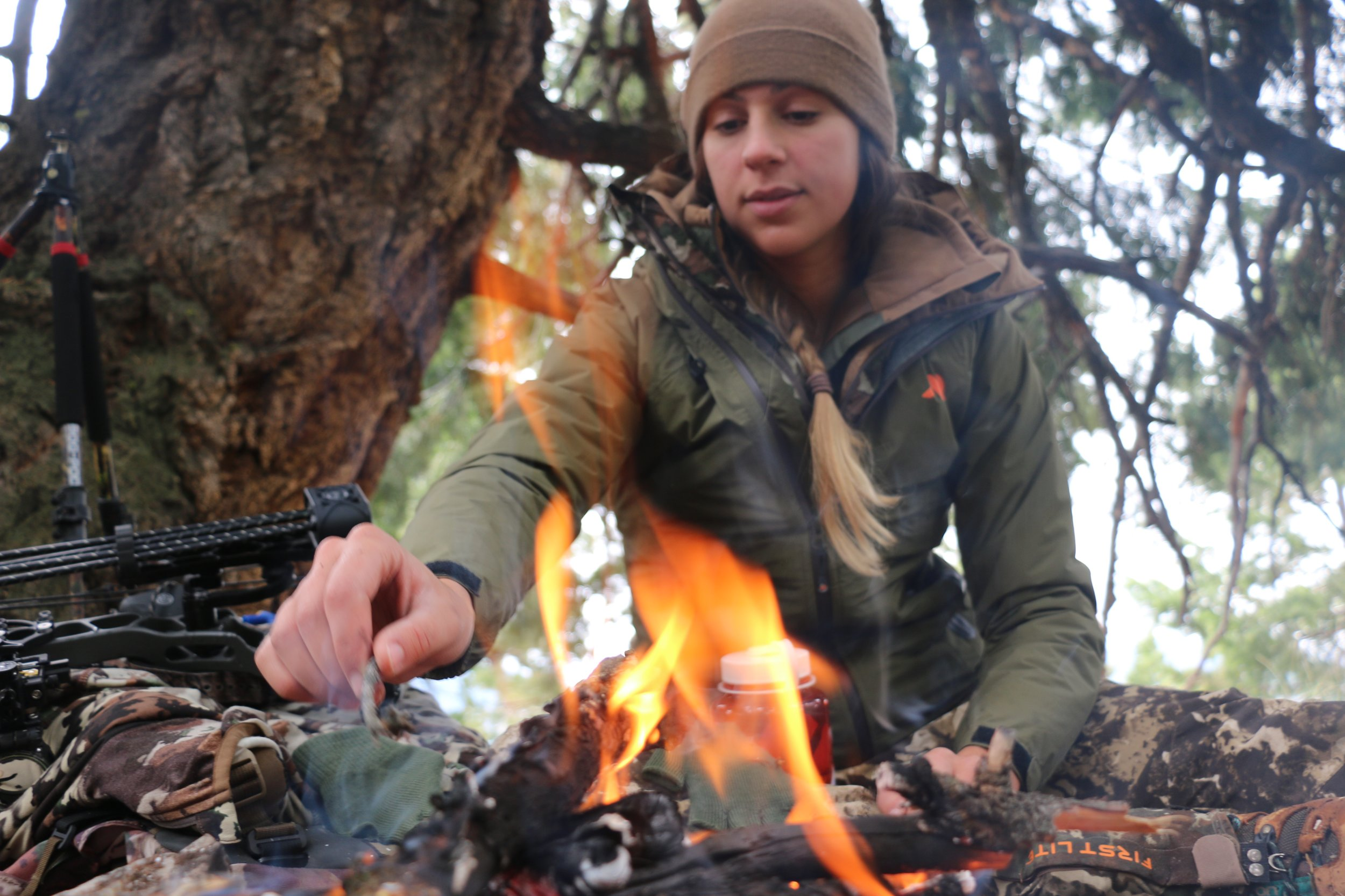 Bow Hunting Fire - Outdoors Allie.JPG