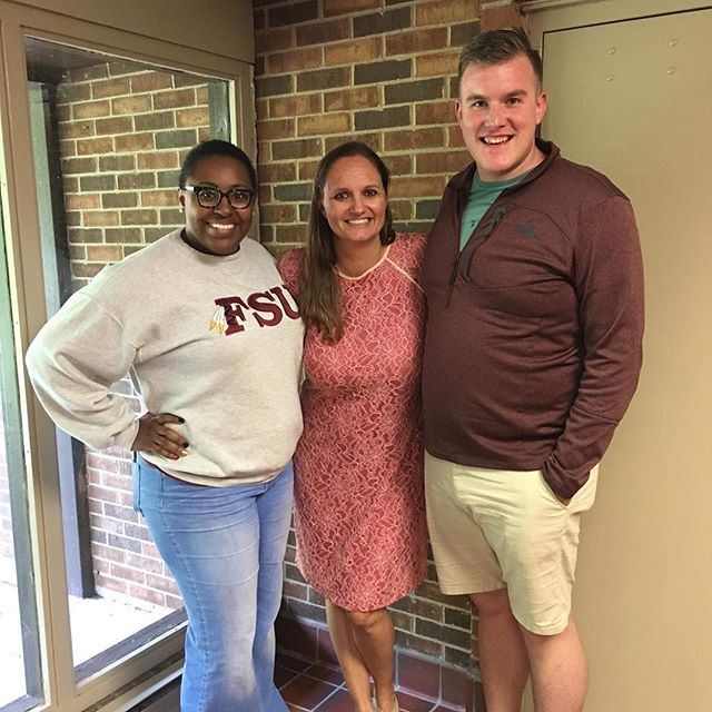 We love a Florida State HESA reunion! Dr. Guthrie stopped by the Housing and Residential Life Training at the University of Dayton today and met up with two members of the LifeNet - Sachet Watson '14 and Derek Goeglein '18! #LifeNet