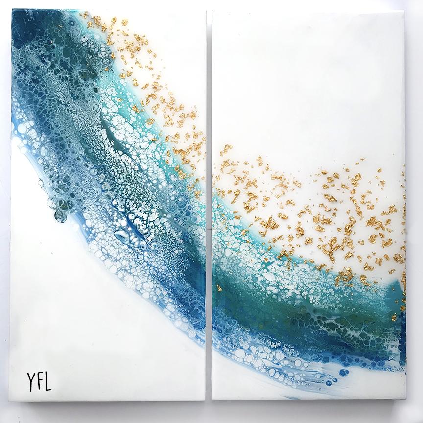 Waves- 24x24inch