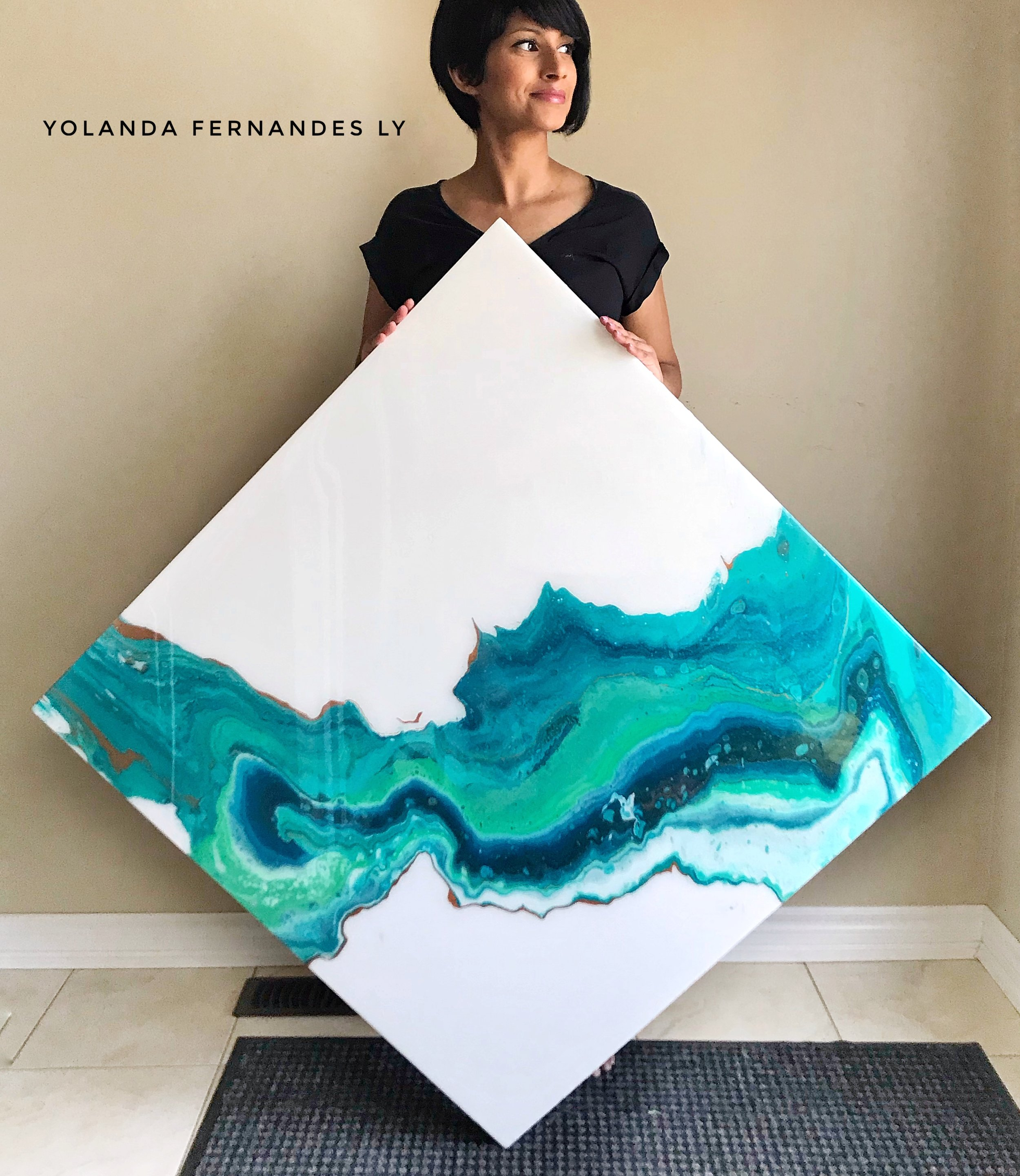 Linarite Slice -36x36 inches-Available