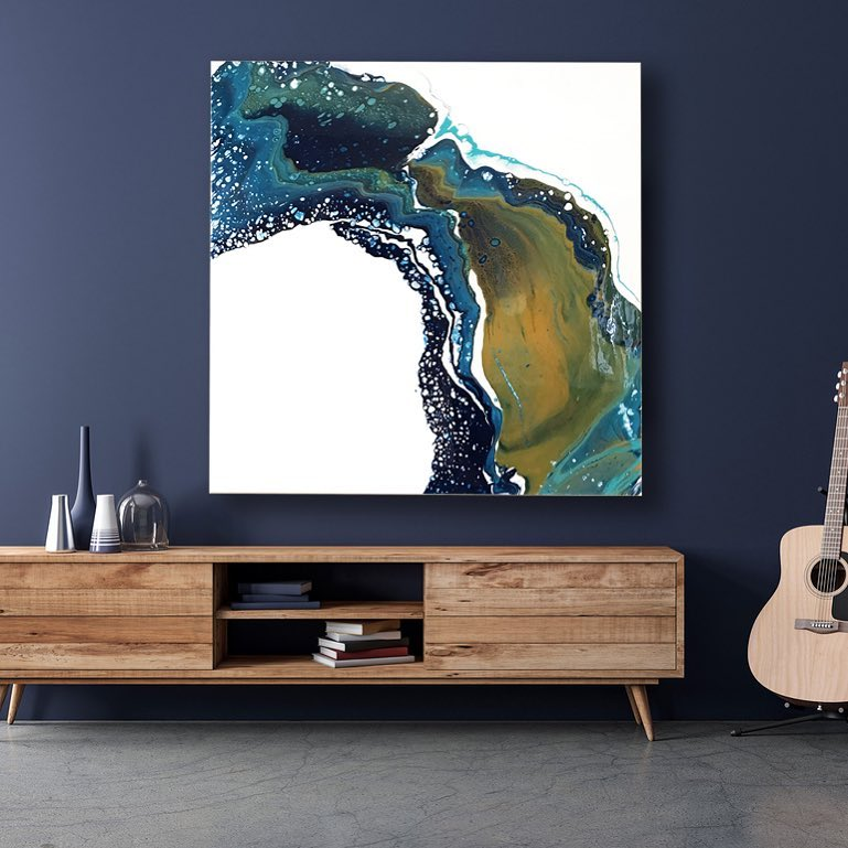 The Water Curves -36x36 inches-Available