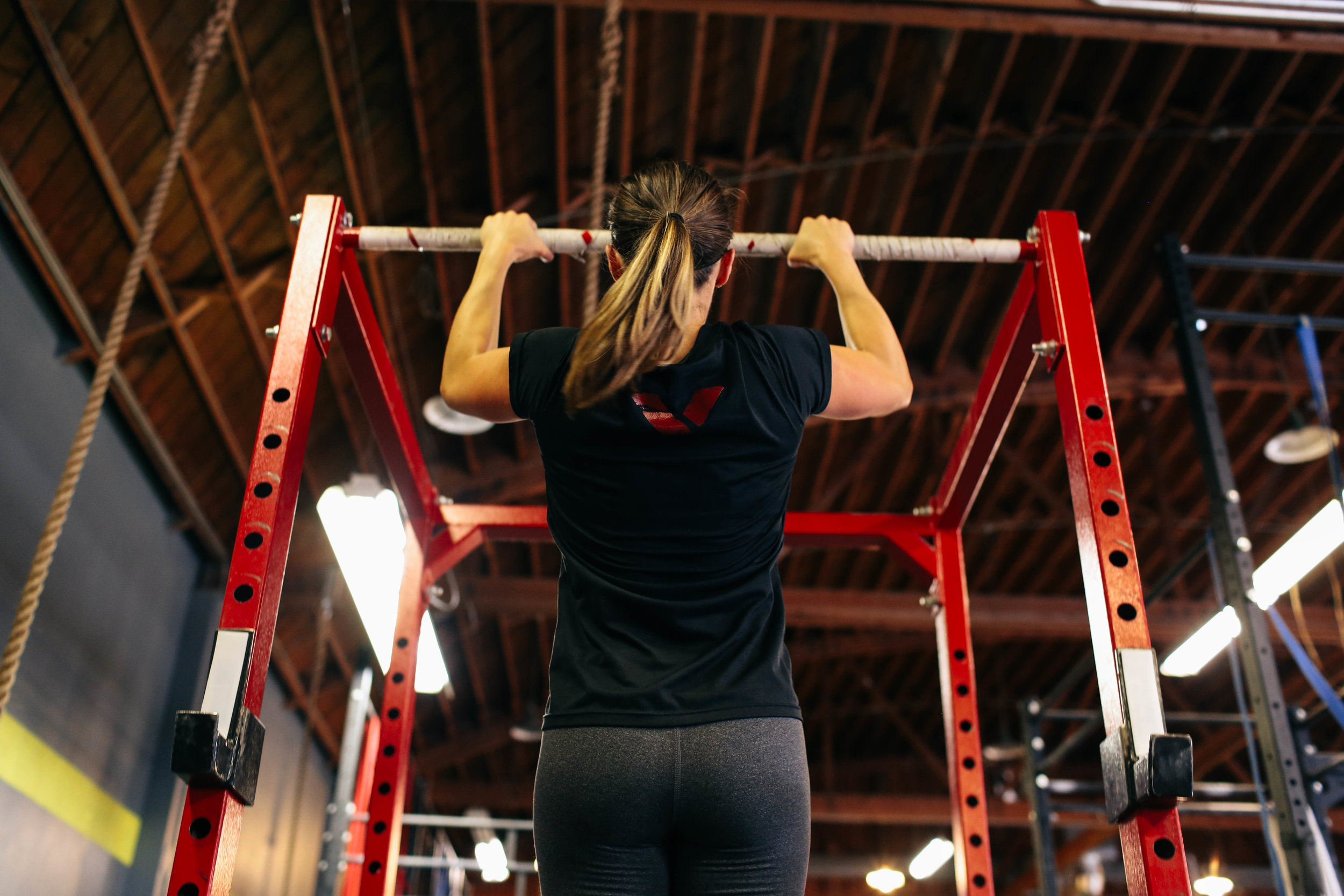 Pull-ups and ponytails are a common sight in any Volt-equipped weight room.
