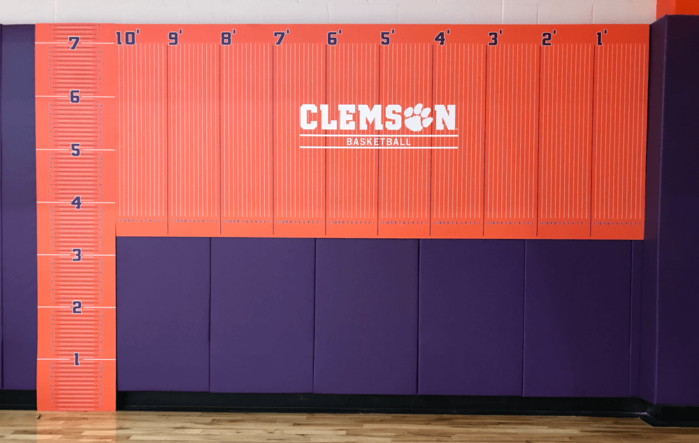 Clemson Basketball's strength and conditioning staff measures student-athlete height and wingspan, among other performance measures, to determine how to construct the most effective performance training for each individual on the team.