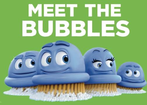 Scrubbing Bubble Character Work
