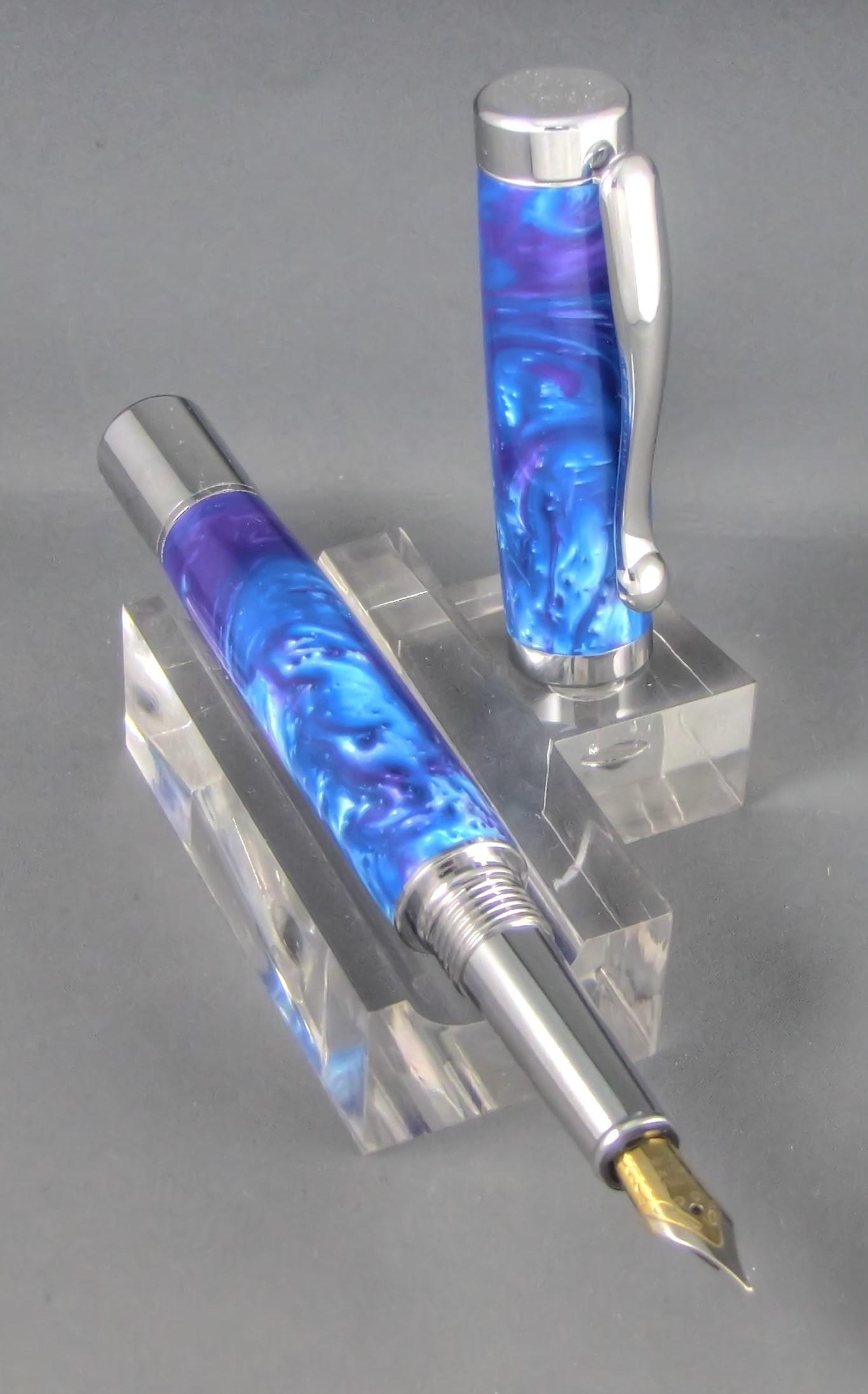 Blue Orchid Custom Acrylic