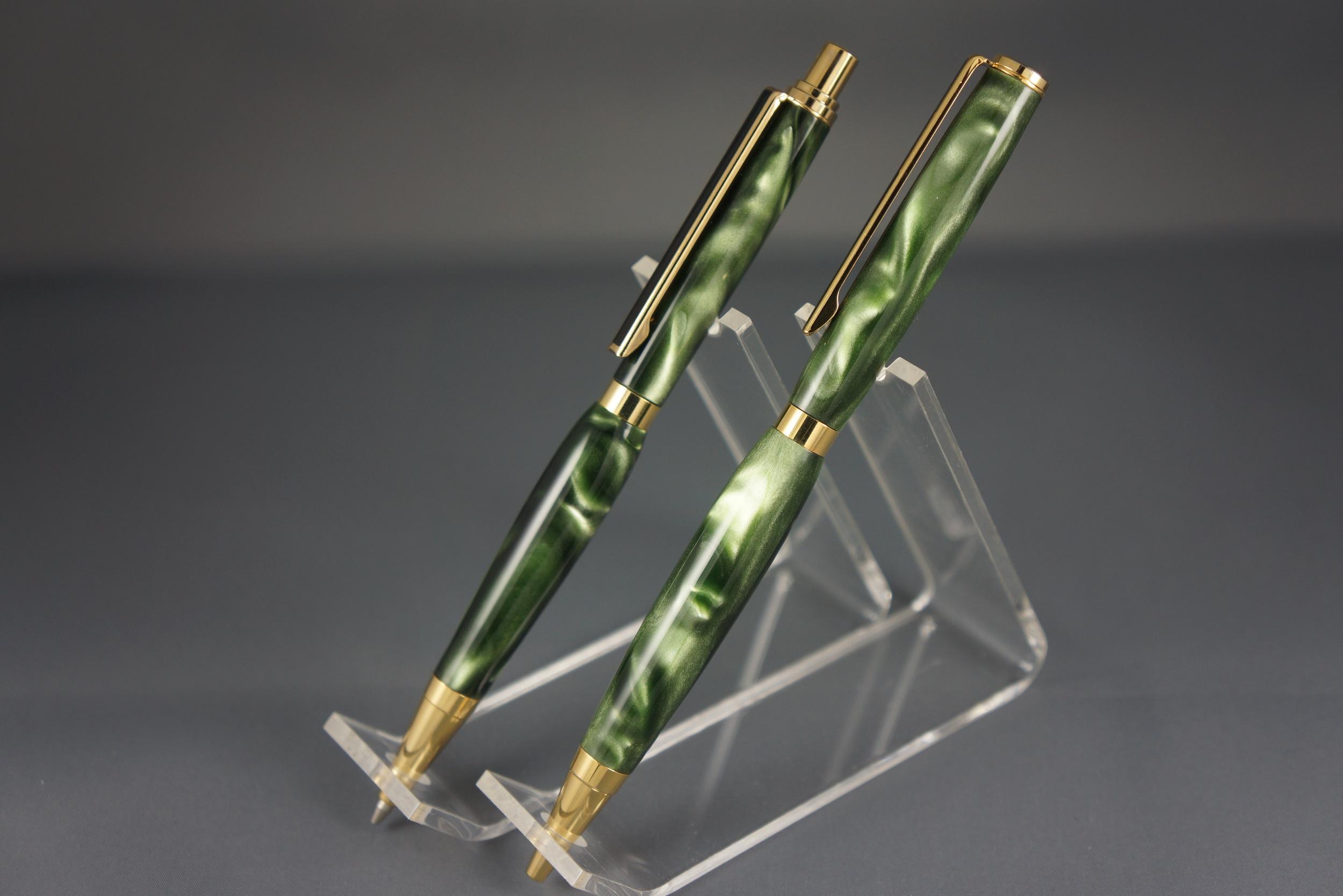 Shimmering Green Pen & Pencil Set