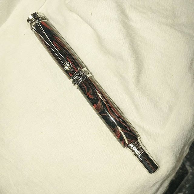 Copper Mokume Fountain Pen
