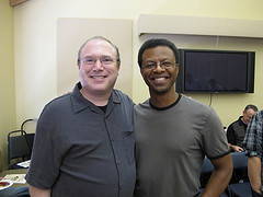 Phil Lamarr and I.