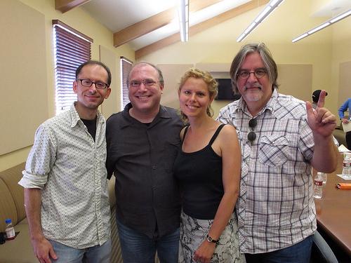 David, me, Sarah, and Matt Groening