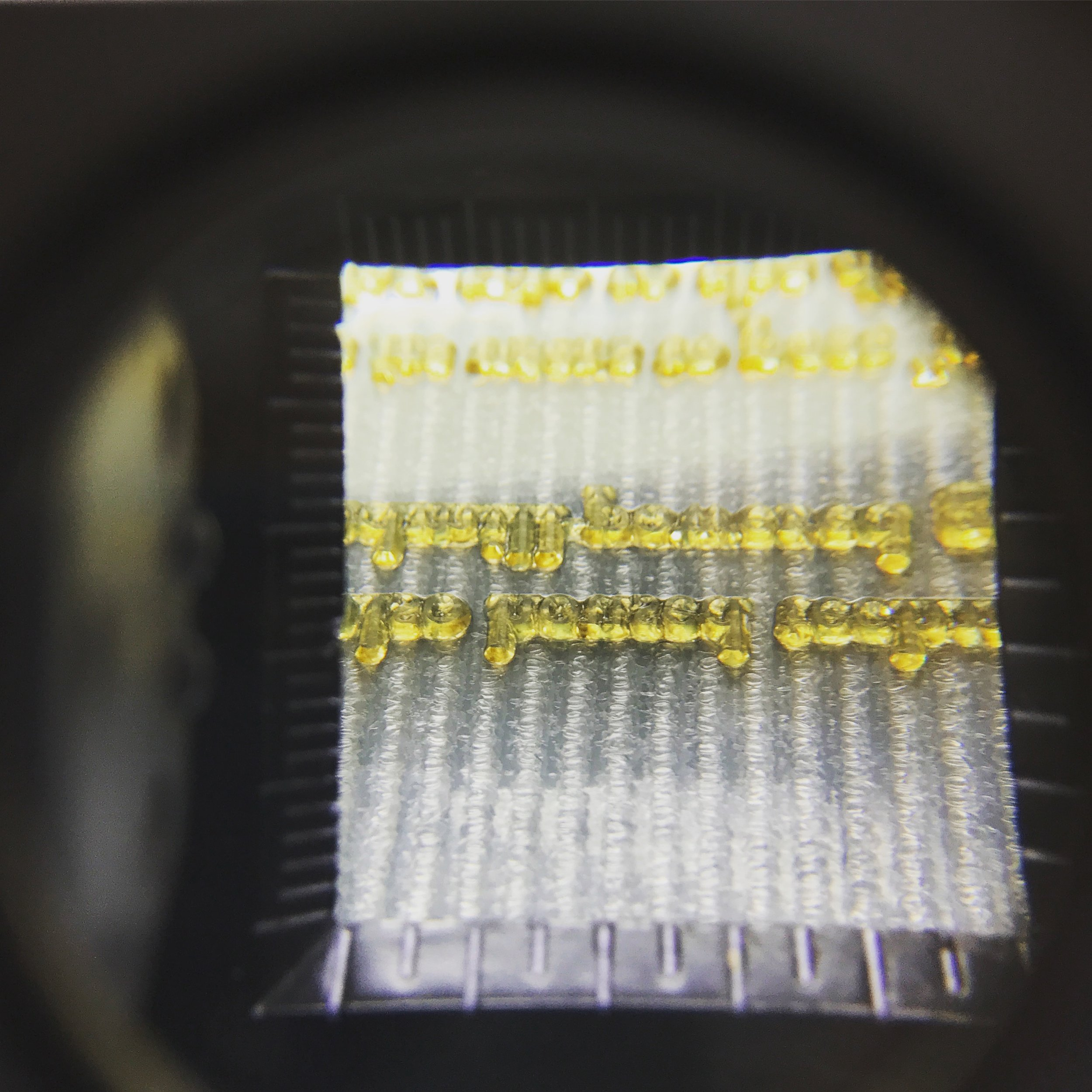 A close-up of some photopolymer