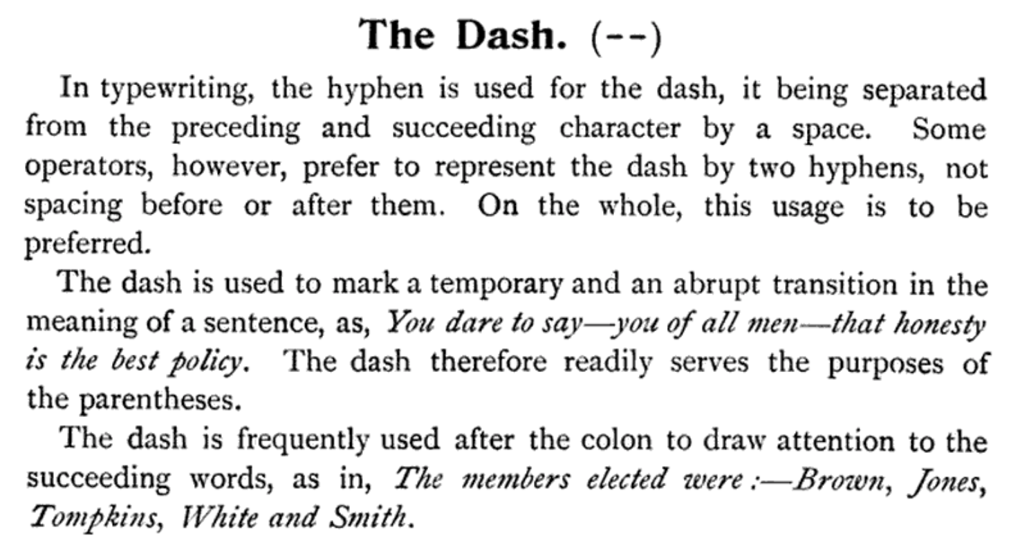 From A  Manual of the Typewriter: A Practical Guide to Commercial Literary Legal Dramatic and All Classes of Typewriting Work
