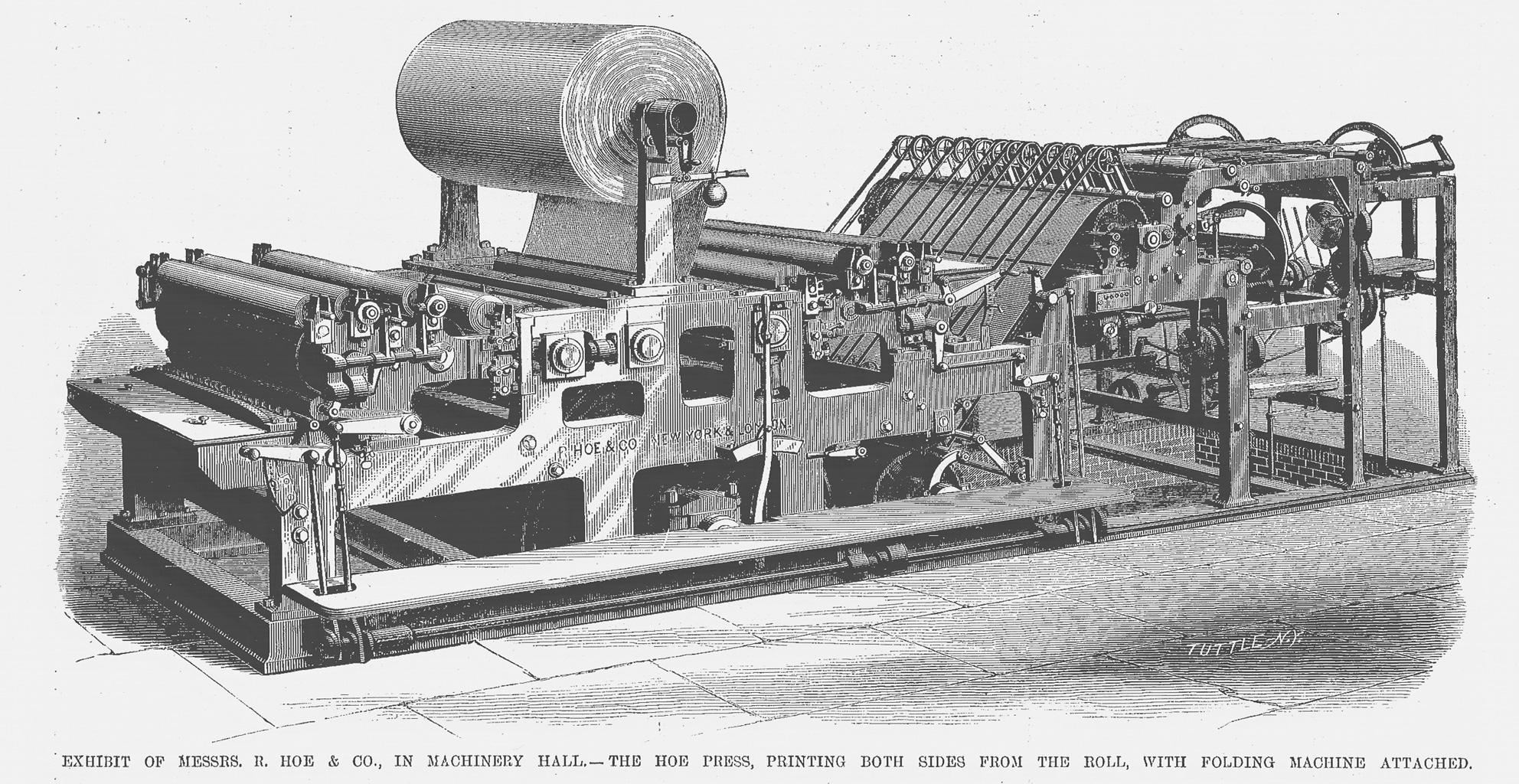 Hoe 1877 rotary press.jpg