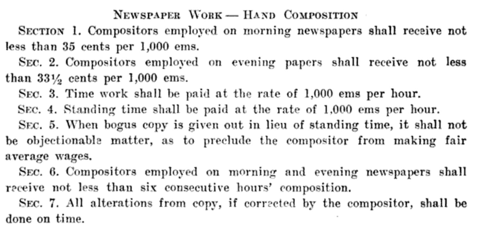A 1907 report on factory inspection explained just a fraction of the piece rate and minimum labor, including how bogus was paid for.